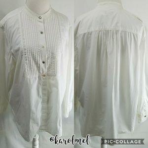 J Jill Women's Cotton Tuxedo Top PL